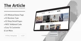 News Article And Blog Modern Template For Blogs Magazines And