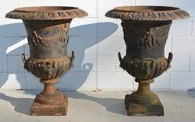 antique victorian pair cast iron garden