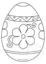 Easter Template Ornate Easter Egg Coloring Page Easter Template