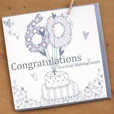 Diamond Couple 60th Wedding Anniversary Card