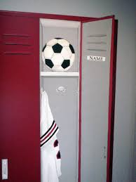 Locker Room Bedroom Furniture Cozy Brown Wooden Wall And Grey Roof Tile Also White Pillars And