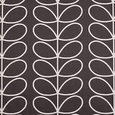 orla kiely linear stem curtains charcoal small 4361b