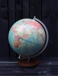 Vintage Zweedse Globe Met Verlichting Uit 1976 Zaansch Faam Webshop