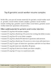 Social Work Resume Sample Fascinating Top 60 Geriatric Social Worker Resume Samples