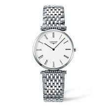 longines watches quality swiss watches ernest jones watches longines la grand classique men s white dial bracelet watch product number 9099891