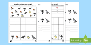 British Garden Birds Chart Bar Graphs With Birds Differentiated Worksheet Worksheet