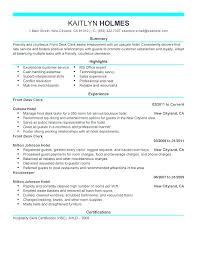 Front Desk Receptionist Resume Front Desk Receptionist Resume Sample