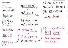 common core algebra 2 module 1 lesson 29 solving radical equations part 1