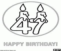 Vader Jarig Kleurplaat Ausmalbilder Karte Zum 47 Geburtstag Zum