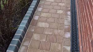 Drainage Channel Design Drivesett Natrale Block Paving Path With Charcoal Key Kerbs