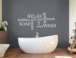bathroom wall decor words bathroom
