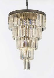 retro odeon crystal glass fringe 5 tier