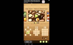 Kids Game – Memory Match Food free educational puzzle game for ...