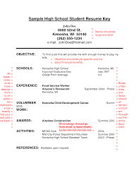 Example Of Resume For High School Student Resume Templates