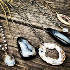 robindira unsworth druzy pendant necklaces all in a row layered jewelry chagne diamond