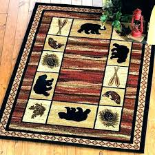 rustic area rugs for cabin all your log lodge forest rug