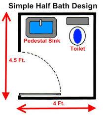 18 square foot half bath
