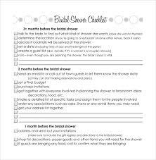bridal checklist sample bridal shower checklist 8 documents in pdf