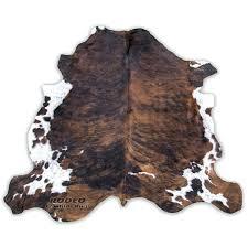 brown cowhide rug classic brindle rodeo rugs