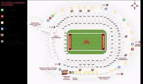 Tcf Stadium Seating Chart Mn United Tcf Bank Stadium Seating Chart