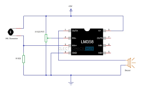 simple fire alarm circuit using thermistor, germanium diode and lm341 Simple Alarm Circuit Diagram simple fire alarm circuit diagram simple alarm circuit diagram with relay