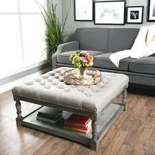 ottomans as coffee tables coffee tables with seating champagne cube coffee table with 4 storage