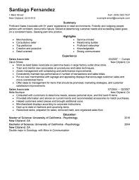 choose how to write a resume for a sales associate position