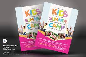 Kids Summer Camp Flyers Psd Template 67234