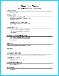 sample resume for summer job college student with no experience best  template ideas on students cool