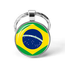 South America Countries Flag Key Chain Brazil Chile Argentina Peru Colombia  Flag Metal Keychain Tourist Countries Souvenir Gifts|Key Chains