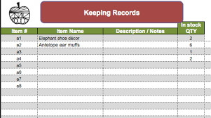 Stock Record Keeping Excel Sheet Bookkeeping For Your Creative Business Project Eve