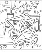 Senecio By Paul Klee Coloring Page Free Printable Coloring Pages