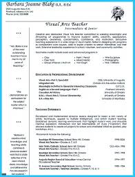 Art Teacher Resume Examples Examples Of Resumes
