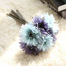 office room diy decoration blue. Artfen Artificial Gerbera Flower Daisy Flowers Bride Bridesmaid  Holding 7 Stems Silk Daisies Office Room Diy Decoration Blue I