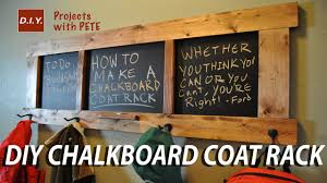 Coming And Going Coat Rack How To Make A Chalkboard Coat Rack YouTube 71