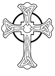 Crosses Coloring Pages Drawn Cross Coloring Page Christian Easter