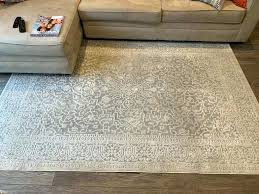 used area rugs details about reflection rug grey cream 5x7 target