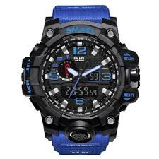 <b>SMAEL</b> Military 50m Waterproof Wristwatch LED <b>Quartz</b> Clock Sport ...