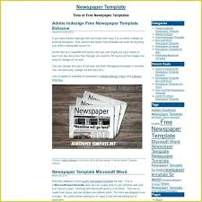 Microsoft Newspaper Template Free Word Newspaper Templates Template Article Layout For Free