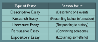 types of essay examples different essay types and formats  types of essay formats types of essay examples