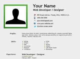 Create A Resume For Free Simple 28 Free HTML Resume Templates For Your Successful Online Job