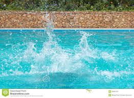 pool water splash. Water Splashes In The Swimming Pool Splash