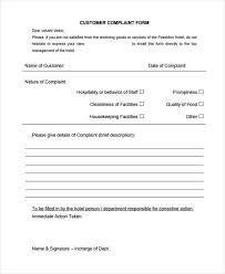 Complaint Form - Resume Template Ideas