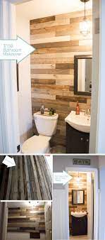 15 Beautiful Wood Accent Wall Ideas To Upgrade Your Space Homelovr Wood Paneling Makeover Wood Wall Bathroom Bathroom Accent Wall