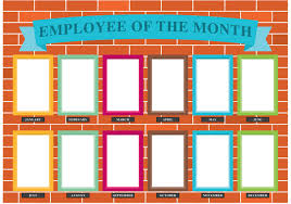 Employee Of The Month Template With Photo Employee Of The Month 1525 Free Downloads