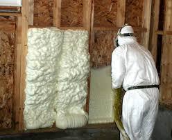spray foam insulation on walls