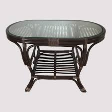 alisa oval coffee table with glass top