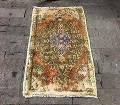 small runner rug 1 9 3 1ft vintage oushak rug orange door mat rug oushak runner rug turkish rug purple turkish runner rug