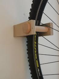 bike rack wall mount wooden bicycle