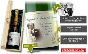 enement gifts for couples personalised chagne